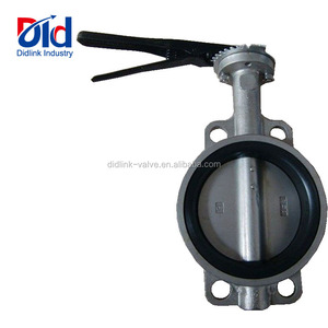 Gas V Gate 2 Pn16 Gearbox Gear With Pneumatic Actuator Wafer Type Stainless Steel Butterfly Valve 1 Inch