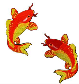 2017 Gaya Baru Ikan Mas Ikan Mas Bordir Stiker Kain Beige Busana