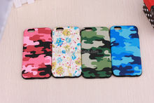 Camouflage design TPU Leather Cover For i Phone 6 4.7 inch, Ultrathin Shockproof Soft Case for apple phone