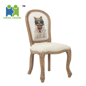(ARLENE-B) 2018 light color antique fabric dining chairs for sale