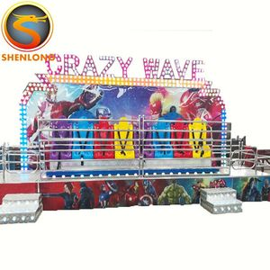 Carnival rides thrilling games 18 seats miami crazy wave adult amusement attraction for sale