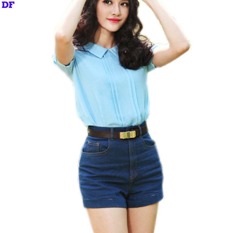 a4c6a4300dc Get Quotations · High Waisted Denim Shorts 2015 New Fashion Harem Trousers  Hot Sale Shorts For Women American Style