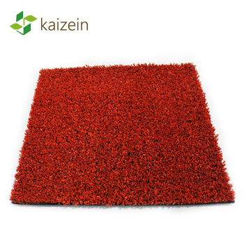 Quality assured plastic red artificial grass basketball court supplier