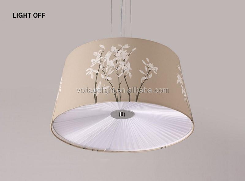 Moderne Hanglamp Bloem Blauw Schilderen Stof Decoratieve Opknoping ...