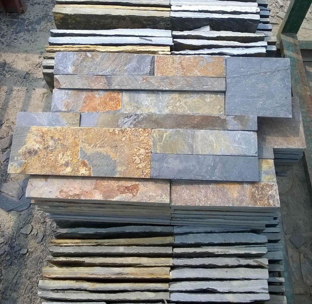 Paneles decorativos de pared de piedra de pizarra oxidada - Paneles piedra natural ...