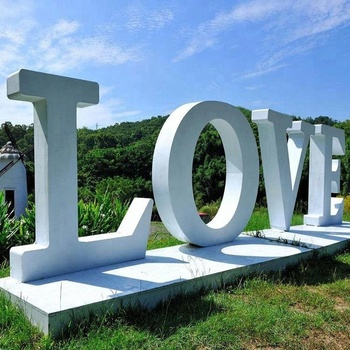 Large Free Standing Letters Wedding 3D Signs Metal Giant Love Letters