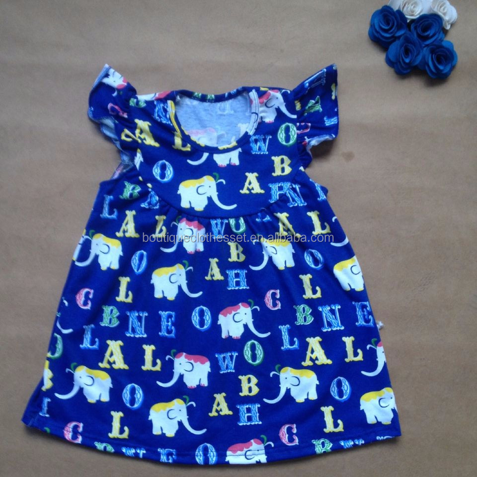 2ae8e7fd04bc Hot sale dress for girls of 7 years old boutique girls pearl fall clothes  toddler elephant