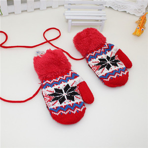 New Gifts kids lovely Gloves soft warm line Wool Knitted Mittens