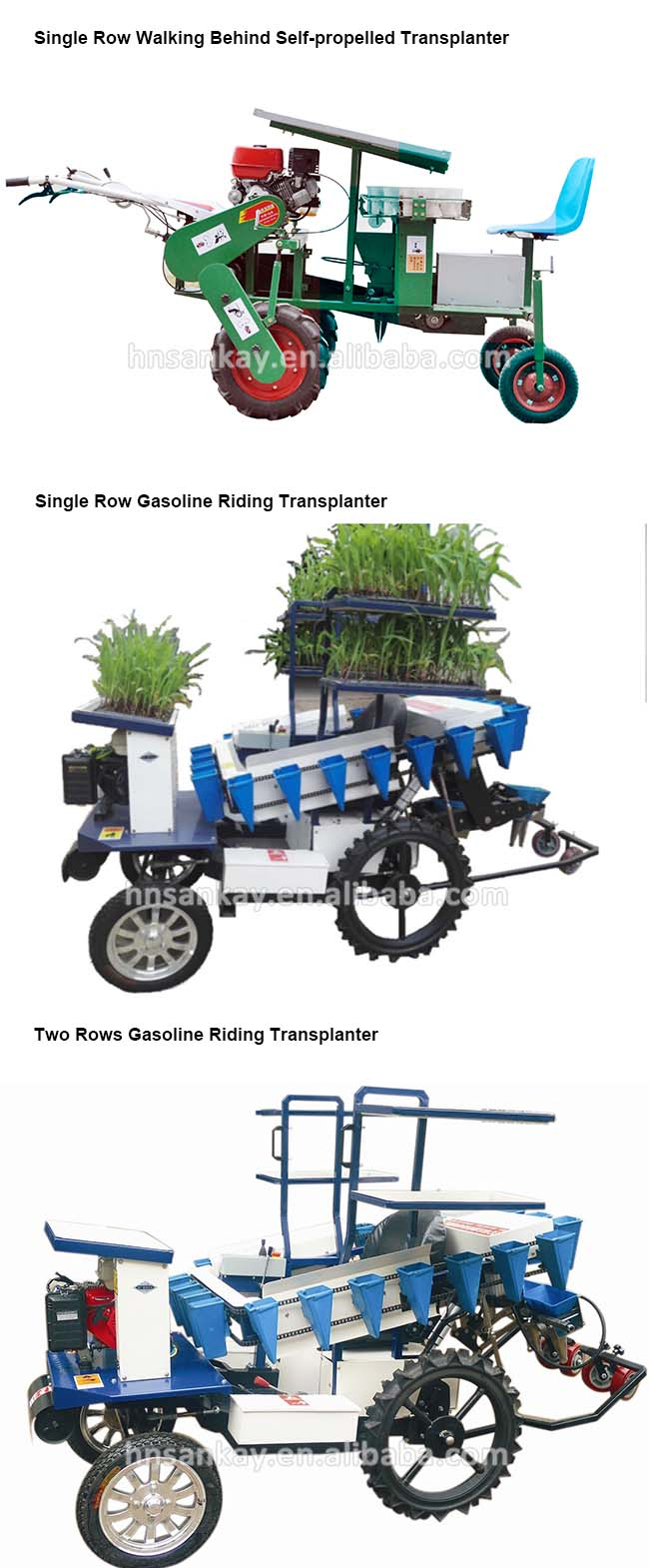 Diesel engine vegetable seeding transplanter for sale