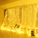 LED Window Curtain String Light, LED Icicle Light String, Warm White Fairy Light String for Indoor Outdoor Wall Decoration