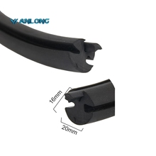 Three distinctive channels durable black window rubber seal