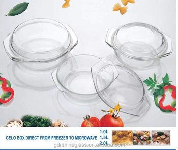 rond verre faitout avec couvercle verre pyrex ensemble de cuisson four micro ondes plat de. Black Bedroom Furniture Sets. Home Design Ideas