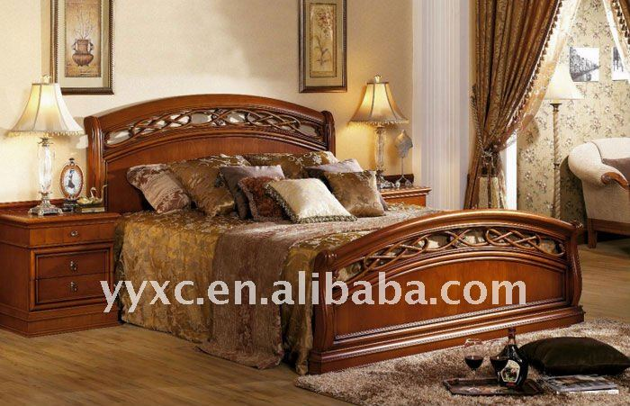 Wooden Furniture Bedroom Solid Wood Bed Product On Alibaba