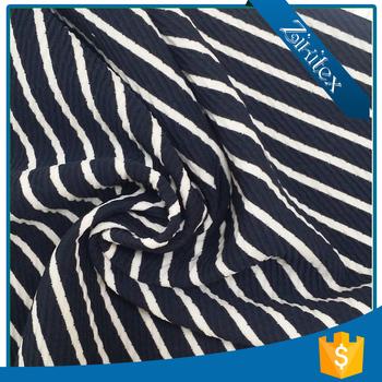 black white striped t shirt fabric