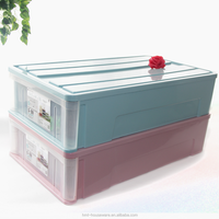 Taizhou Hengming plastic craft storage boxes storage box with lock bucket plastic container