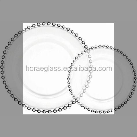 Wholesale Clear Beaded Charger Plates Wholesale Clear Beaded