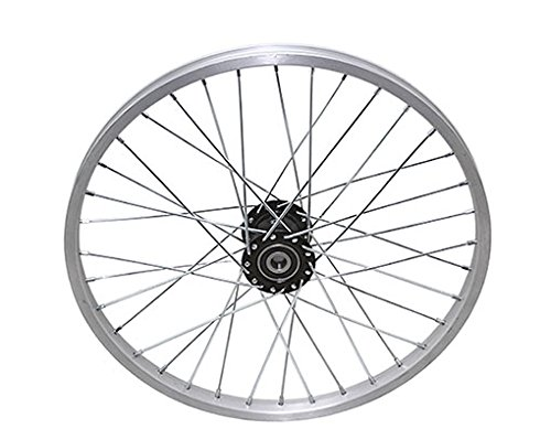 """Lowrider 20"""" 36 Spoke Trike Alloy Hollow-Hub F/Left Wheel 12g UCP Bearing 15mm inner diameter x 35mm outer diameter Silver. bike part, bicycle part, bike accessory, bicycle accessory"""