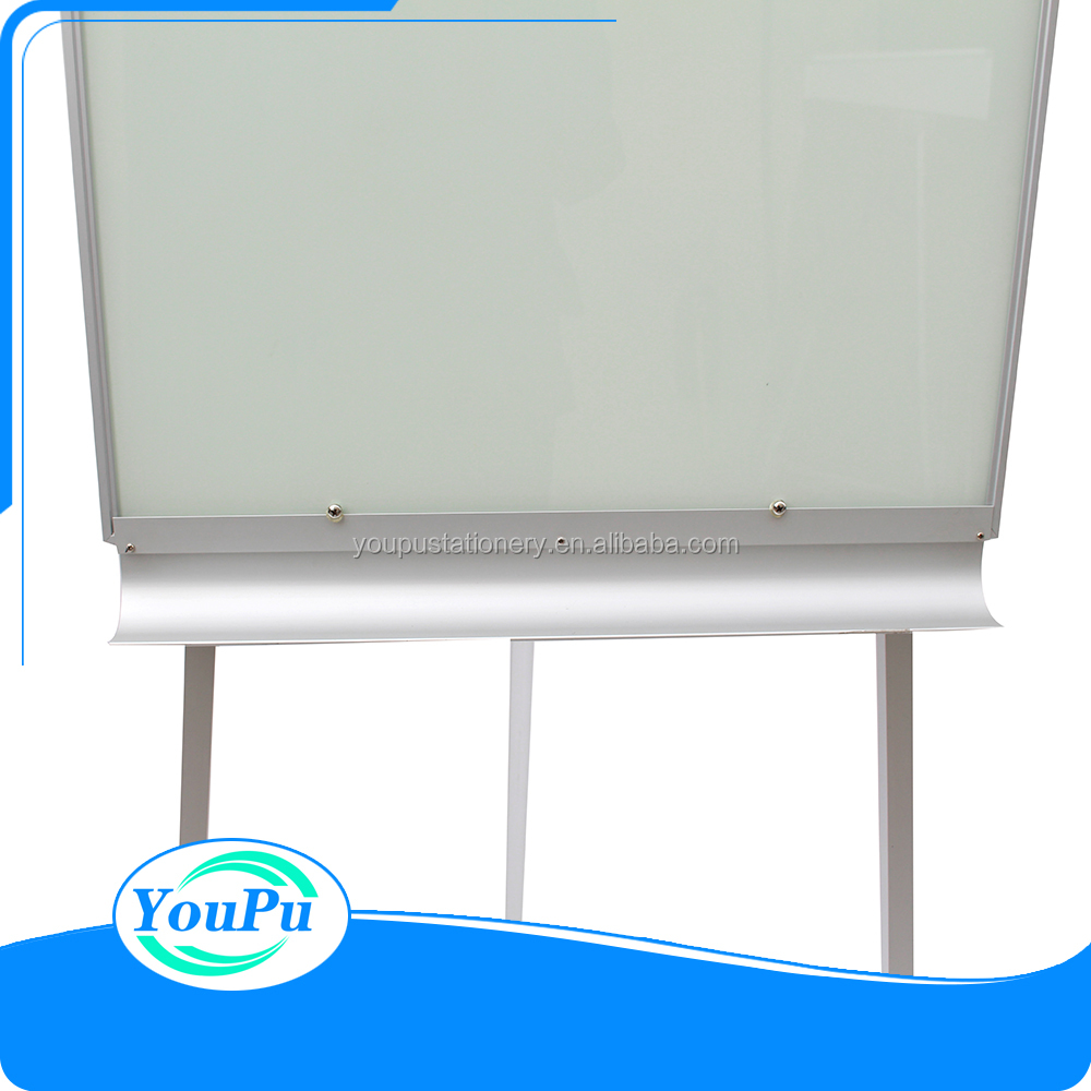 2017 new arrival higest quality white easel metal tripod flipchart whiteboard