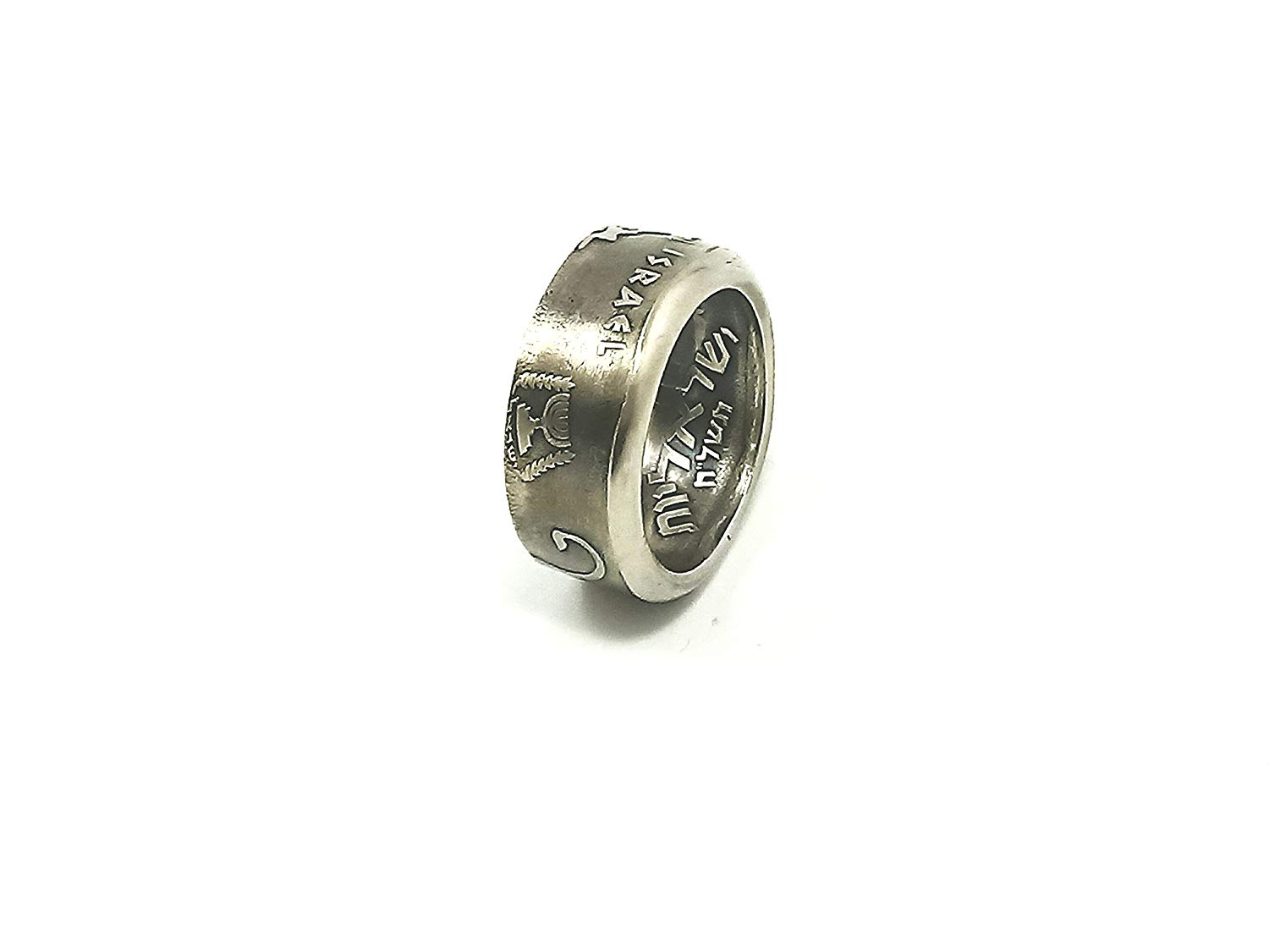Free shipping Meran Shavit Jewelry silver color Coin Ring Lion of Judah size 7 8 9 10 11 12 13
