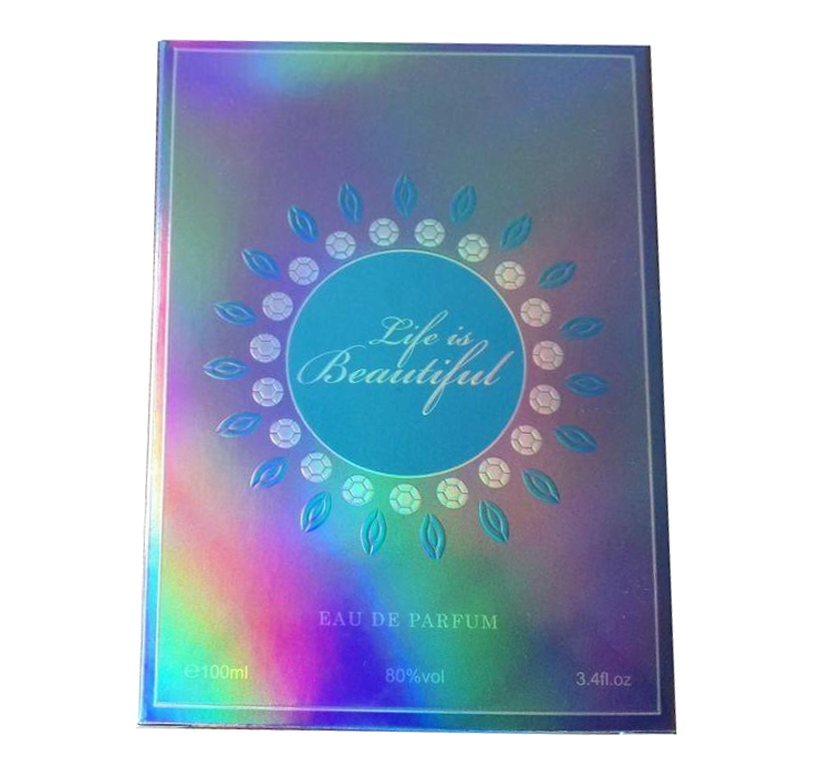 Unicolor Custom Novel Colorful Rainbow Holographic Paper Box