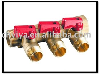 Three way Brass Manifold MY-4003