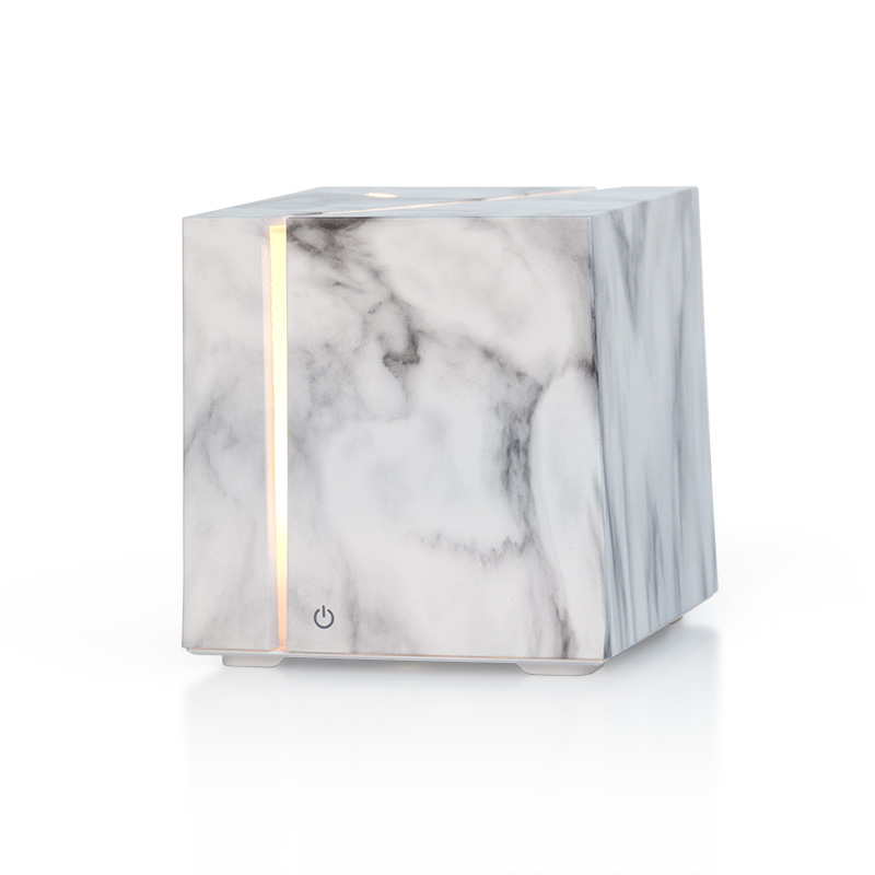 JX Hot Sale Portable Electric 200ml Marble Grain Cube Aroma Diffuser <strong>Ultrasonic</strong> <strong>Air</strong> <strong>Humidifier</strong>