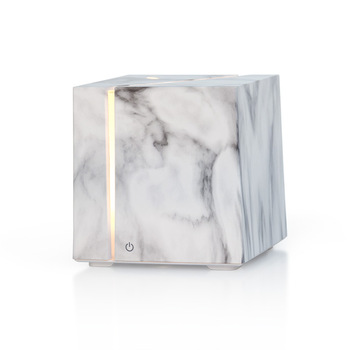 JX Hot Sale Portable Electric 200ml Marble Grain Cube Aroma Diffuser Ultrasonic Air Humidifier