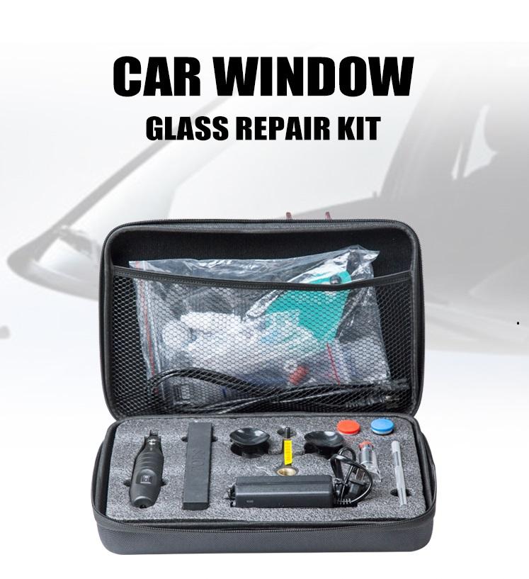 زجاج نافذة السيارة طقم إصلاح / أداة إصلاح الزجاج الأمامي / معدات تجديد زجاج السيارات