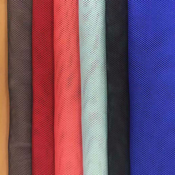 2019 new design high quality soft 100% rpet recycled polyester breathable mesh fabric for clothing