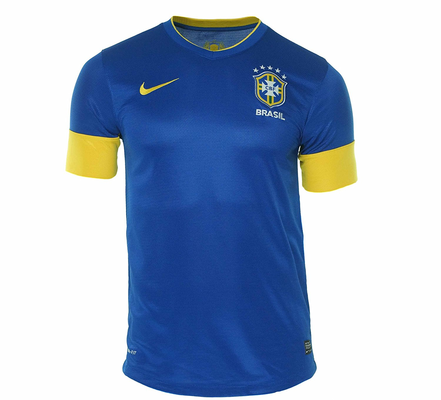 80796290583 Get Quotations · World Cup Nike Brazil National Team 2012 Home Jersey -  Blue Yellow (Small)