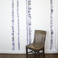 Super Real Birch Trees Wall Decals