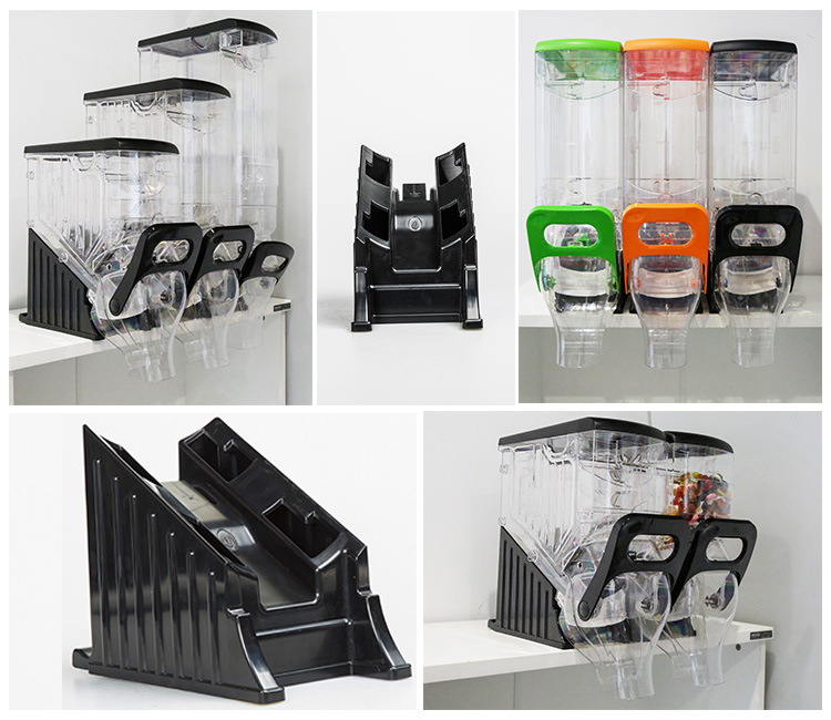 new clear candy gravity bin with lid and acrylic box for supermarket