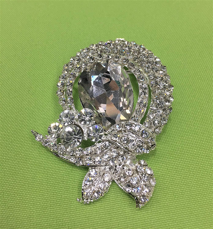 Wedding Brooch,Rhinestone Brooch, Bridal Brooch, crystal brooch for DIY wedding projects, brooch bouquet, bridal sash, invitations #GH0299