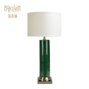 Fashion luxury Chinese decorate green ceramic table lamp decorative led small table lamp