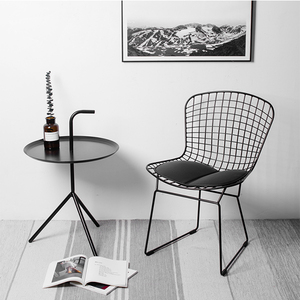 Wire Mesh Metal Iron Gold Wire Metal Dining chair