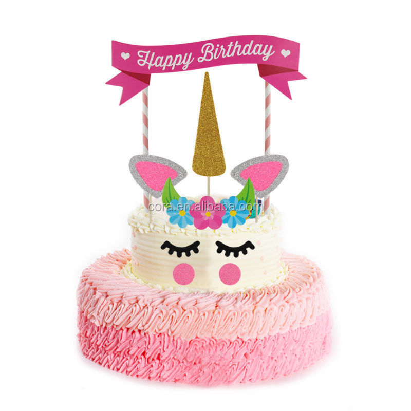 Rainbow Cake Topper Pick Pic Birthday Party Decoration Unicorn The Little Pony CA647