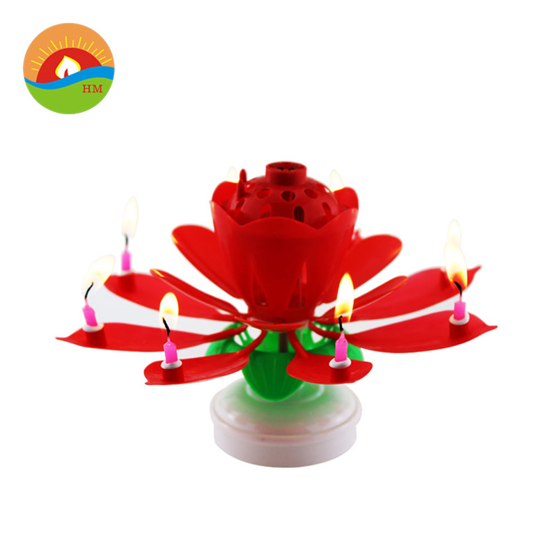 Flower Rotating Music Birthday Candle Wholesale