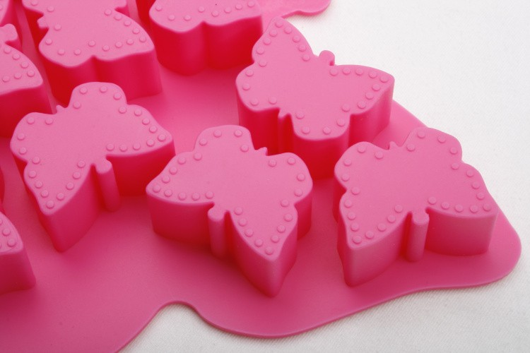 Food Grade Butterfly Shape Silicone Ice Cube Trays