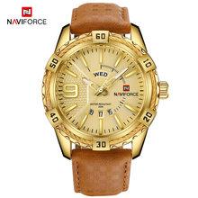Бренд NAVIFORCE Для мужчин золотые часы Роскошные спортивные Водонепроницаемый военные наручные часы, мужские часы, Бизнес часы Для мужчин s ...(Китай)