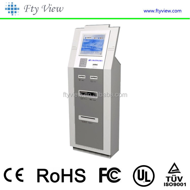 China supplier self-service bill payment kiosk ATM machine/bank payment kiosks and currency acceptor