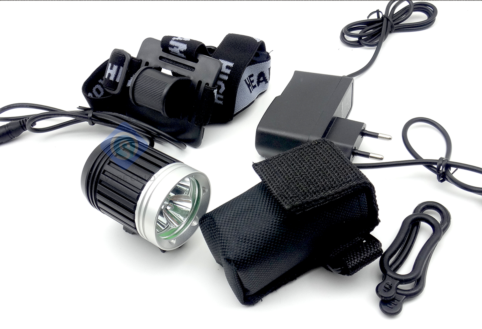 T6 White LED Waterproof Aluminum Alloy Front Bicycle Light Bike Headlamp Headlight Lamp Cycling Lights Set