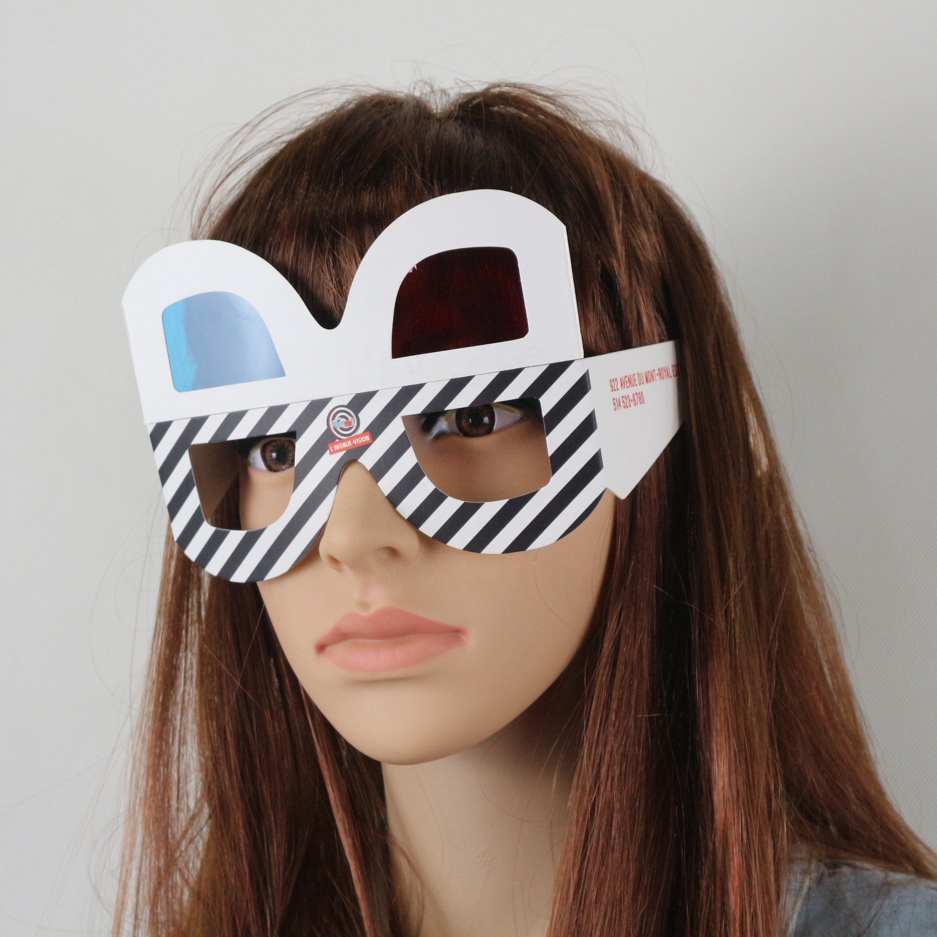 3D paper red-blue glasses hot sale cardboard glass with custom print