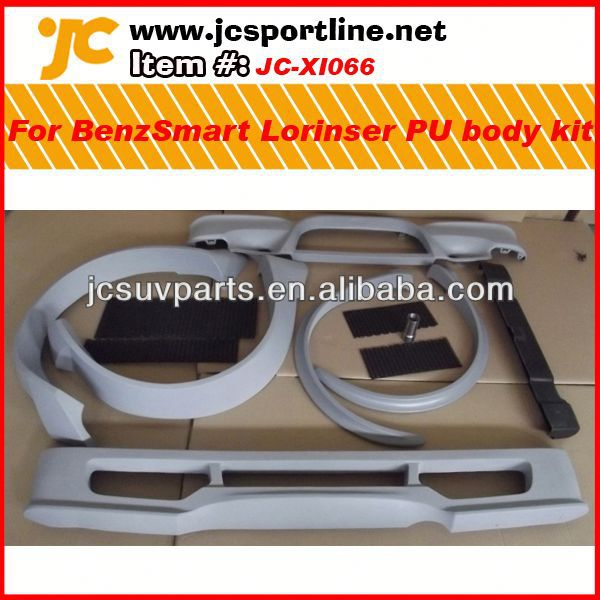 For 09-13 Mercedes Benz Smart Lorinser PU body kit car body kit Smart Lorinser PU body bumper kit