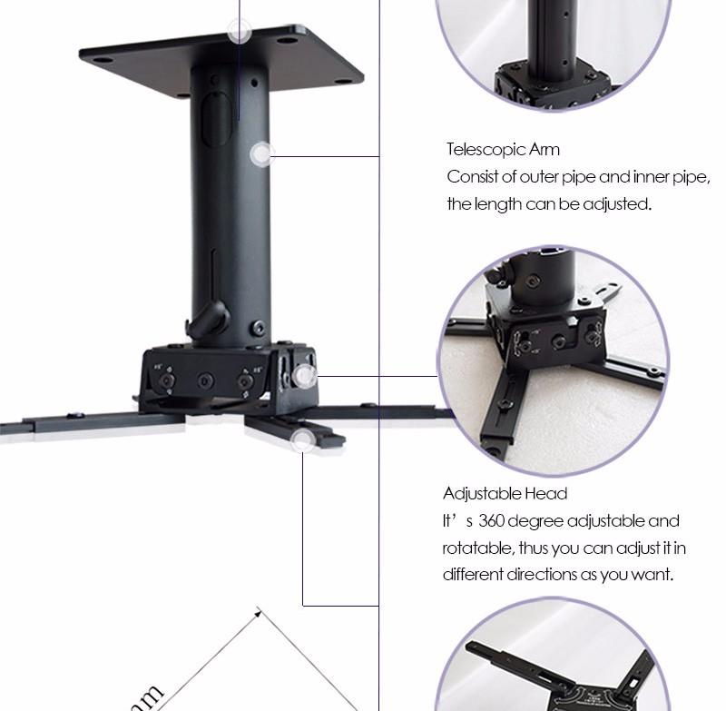 xyscreen overhead projector wall mount bracket ceiling mount for pocket projector - Projector Wall Mount