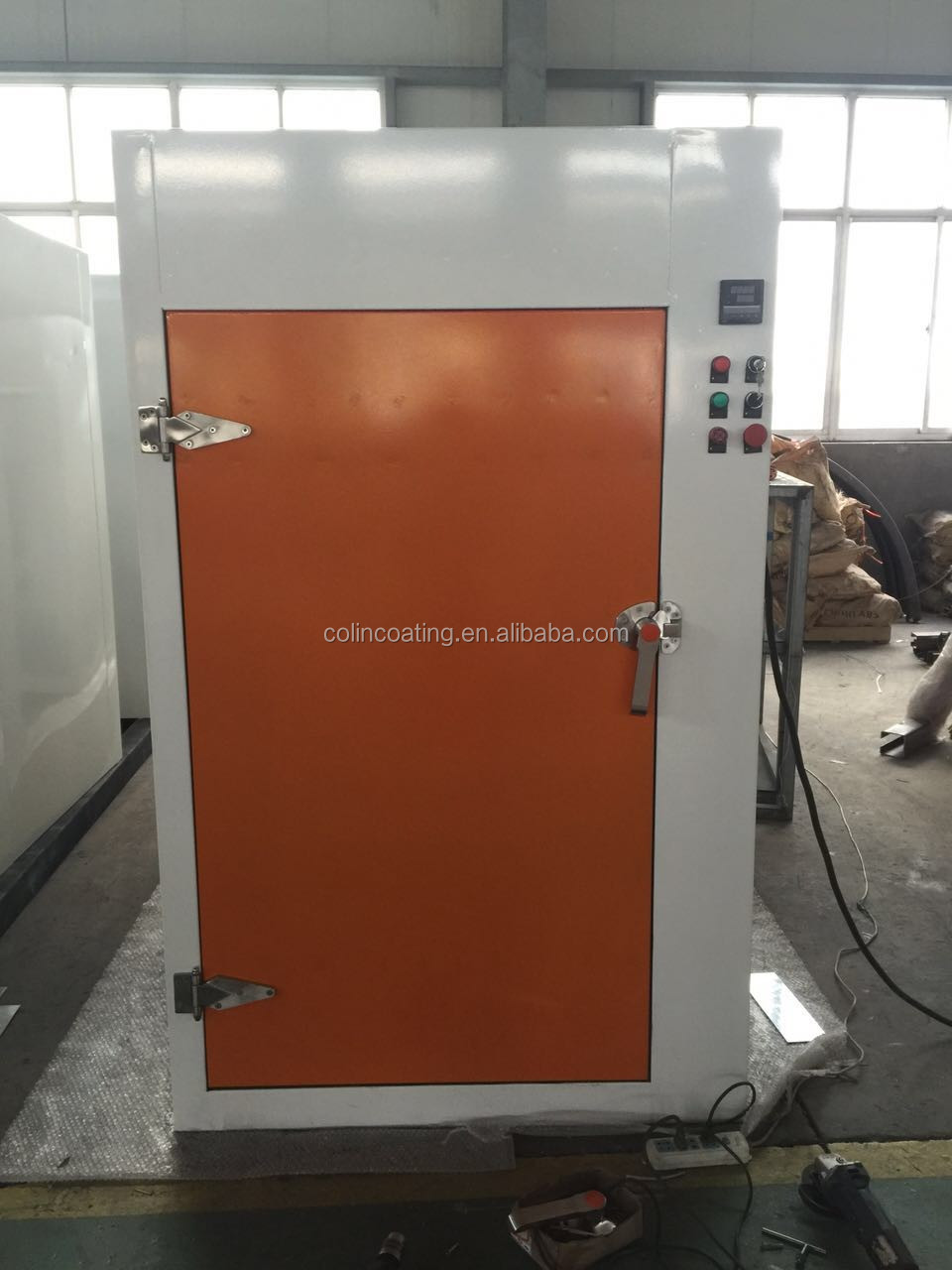 complex shape metal parts electric powder coating oven