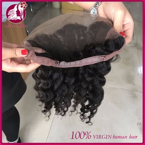 Wholesale Top Quality Natural Hair Line Loose Wave 360 Lace Frontal Wig Virgin Brazilian Hair