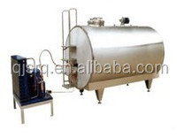 1000L-10000L horizontal milk cooling storage tank