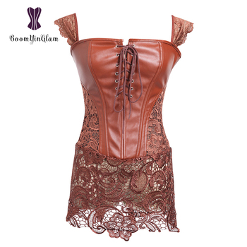 e0d17ae466 High quality plus size custom synthetic leather perfect body shaper gothic  corset dress