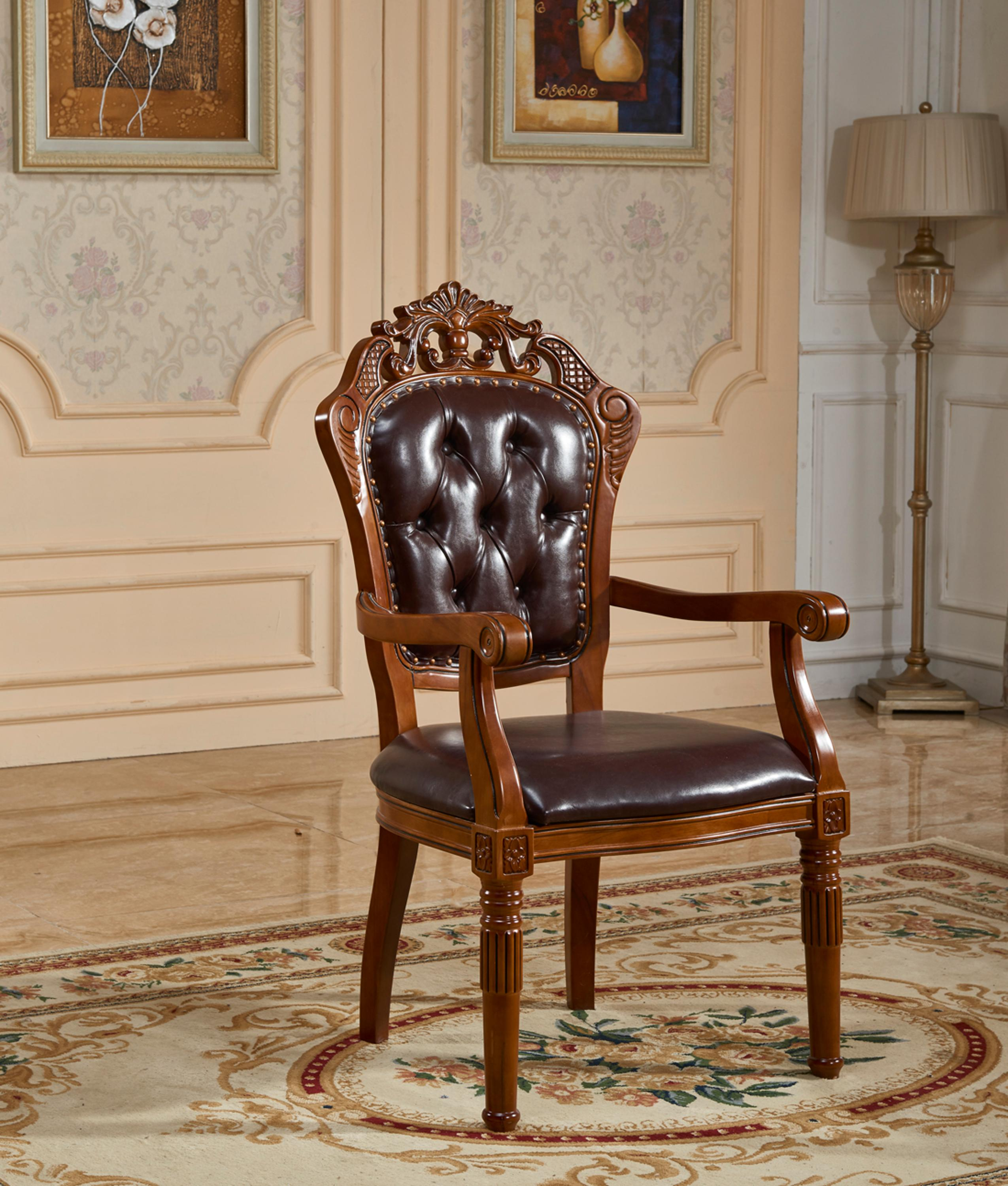 Handle Italian Royal Wood Design High Antique Reproduction Dining Chairs