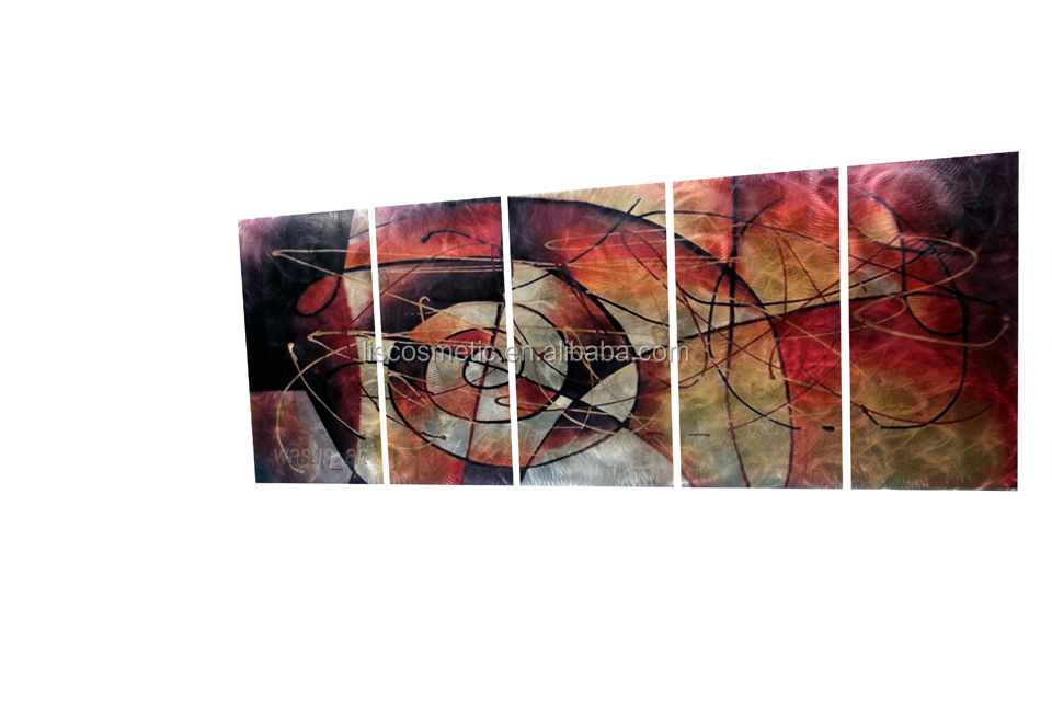 Newest Modern Handmade 3D Metal Wall Art Orginal Wall Painting Hanging Easily